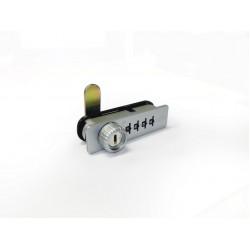 Combination Lock 4 Digit - Zinc Wood