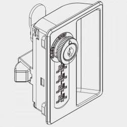Combination Lock - Steel Cabinet with Handle (Vertical)
