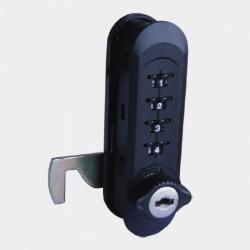 Combination Lock - Wood (Vertical)