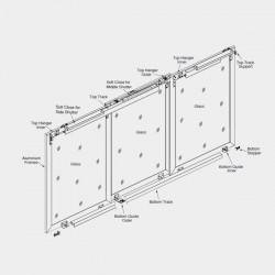 Hi Slide Overlay - Al. Profile 3 door Soft Close - 80kg