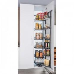 Kitchen Pantry Unit - Soft Close (Complete System Mechanism & Flat Base Basket)