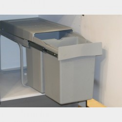 Pull Out Double Waste Bin - 28 Litres