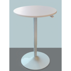 Smart Lift Single Leg - Gas Lift (with Table Top) - Round