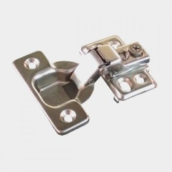 Short Arm Hinge with four hole mounting plate