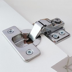 Short Arm Hinge with 4 Hole Mounting Plate SS304
