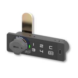 Touch Pad Combination Lock - Wood (Left)
