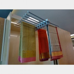 Wardrobe Pullout Hanger - Trouser / Saree - Double