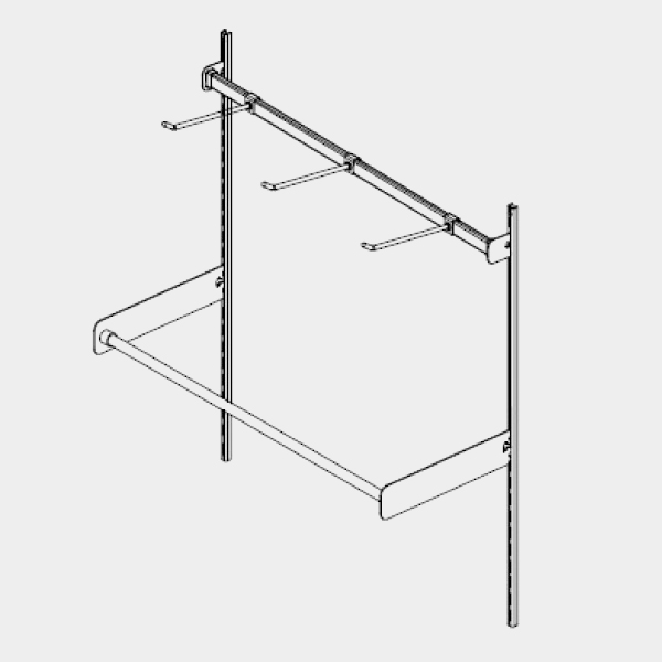 Display Shelving System - Vertical