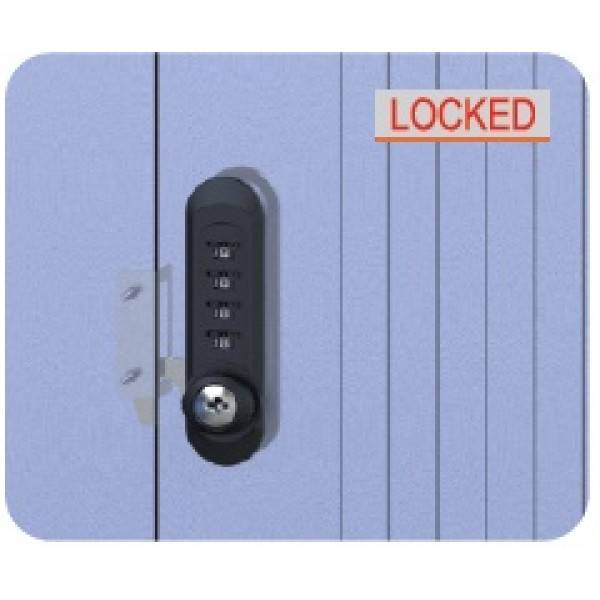 Combination Lock - Wood (Vertical)