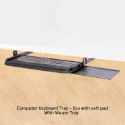Computer Keyboard Tray - Eco with soft pad