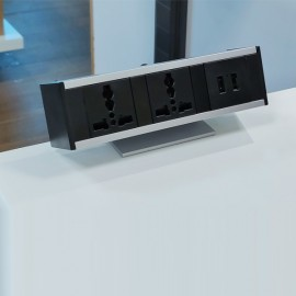 Electric Box - Edge Mount  (2 Universal Power + 2 USB Charger Sockets)