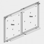 Hi Slide Overlay - Al. Profile Shutter For 2 Doors Soft Close 80 Kgs
