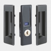 Sliding Door Lock for Steel Cabinet ( with handle set of 2 Nos)
