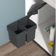 Swing Out Waste Bin Rectangular (Double)