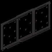 Hi Slide Overlay - Al. Profile Shutter For 3 Doors With Soft Close
