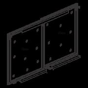 Hi Slide Overlay - Al. Profile Shutter For 2 Doors with Soft Close