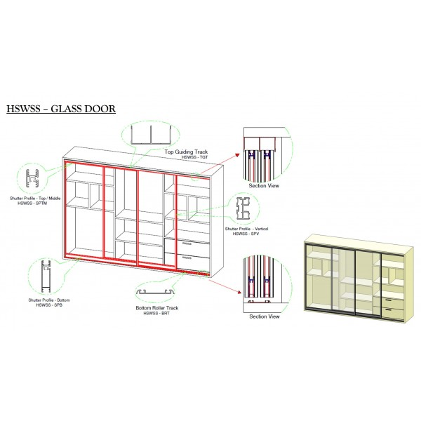 Hi Slide Walk-In Sliding System