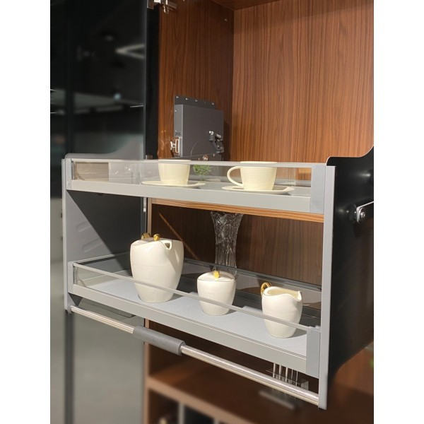 Kitchen Pulldown System 900mm with Glass Basket
