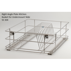 Right Angle Kitchen Basket for Undermount Slide - SS 304