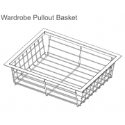 Wardrobe Pullout Basket – (Soft Close)