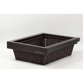 Wardrobe Pullout Basket - Wicker - Soft Close