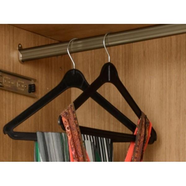 Wardrobe Rail Fittings (Oval)