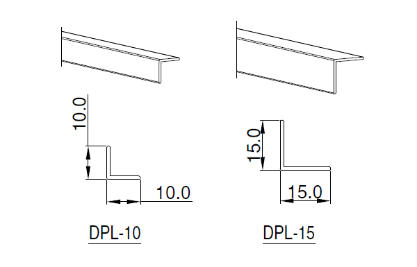 Ebco Aluminium Profile Decorative 'L'