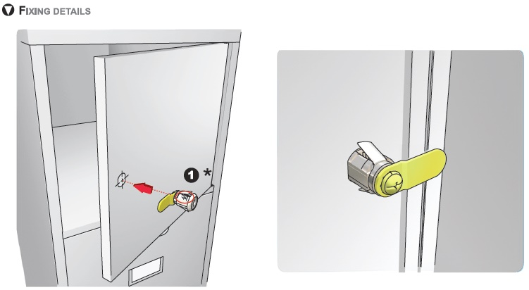 cam lock fitting instructions
