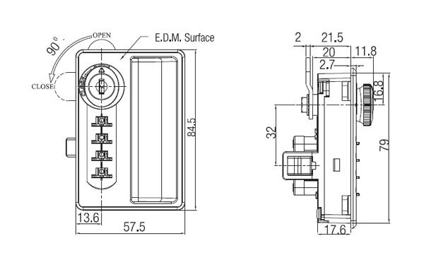 Terrific Combination Lock Steel Cabinet With Handle Vertical Wiring Cloud Pendufoxcilixyz