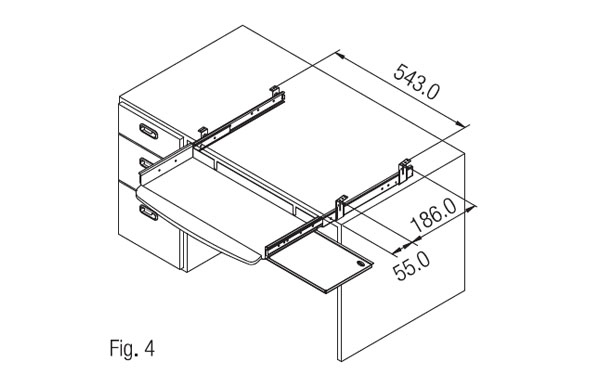 Computer Keyboard Tray With Soft Pad