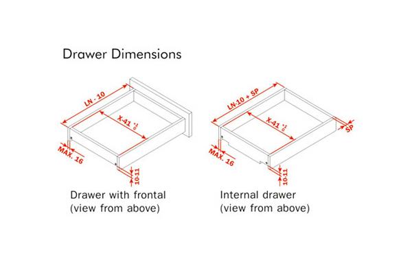 Futura Push Drawer Slide