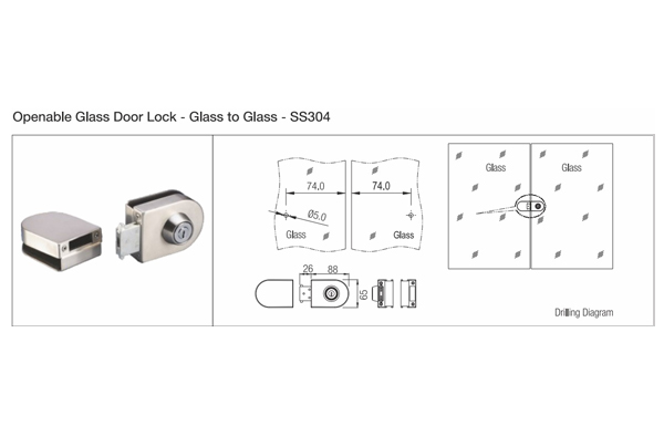 Ebco Glass Door Locks
