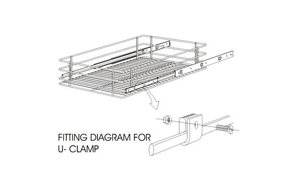 Ebco Basket Clamps - U Clamp and L Clamp