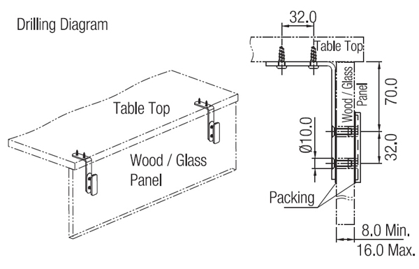 Ebco Modesty Panel Clamp