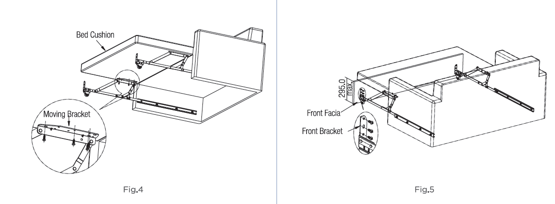 Pro Lift Sofa Bed Fittings With Guide Track Wall Bed