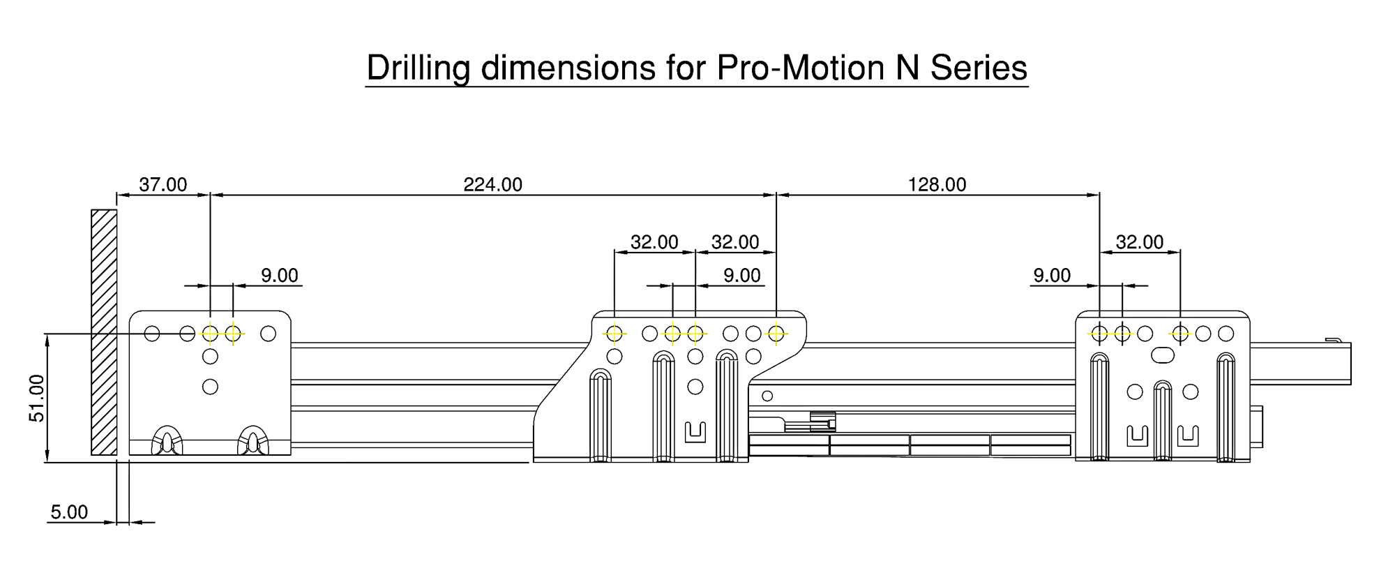 Pro Motion Drawer System N Series Silver Grey