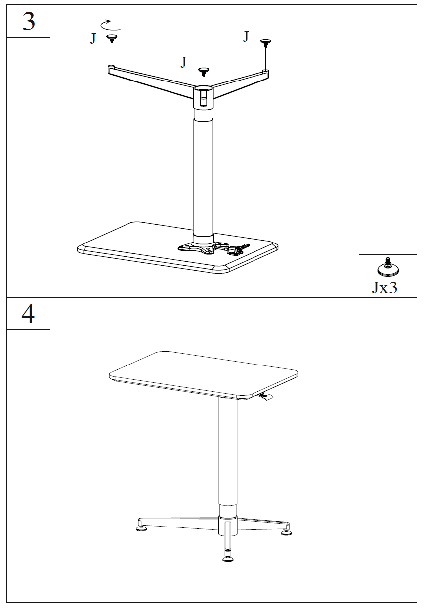 Ergonomical Height Adjustable Smart Table Electric Gas Lift Schematic Fitting Instructions