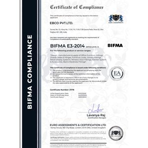 BIFMA Compliance Certificate