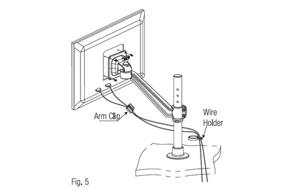Ebco Flat Screen Holder - Single Arm