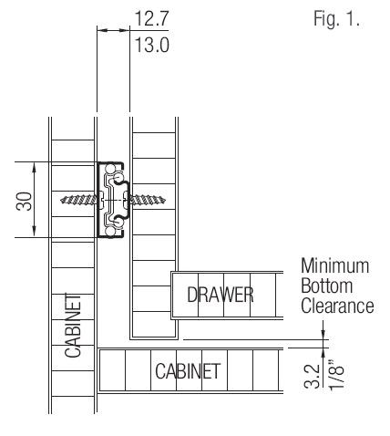 Ebco Mini Telescopic Drawer Slide Ht 30mm Set Of 2 Pcs Knobskart