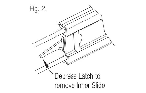 Ebco Mini Telescopic Drawer Slide