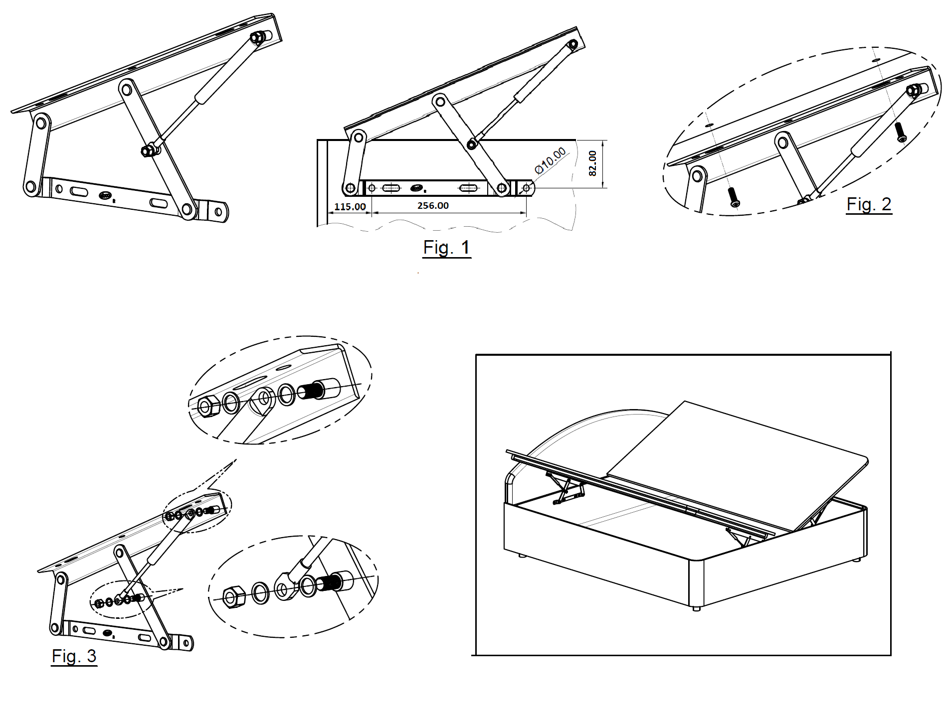 pro-lift bed fitting
