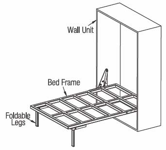 Wall Bed Frame wall bed fittings - vertical